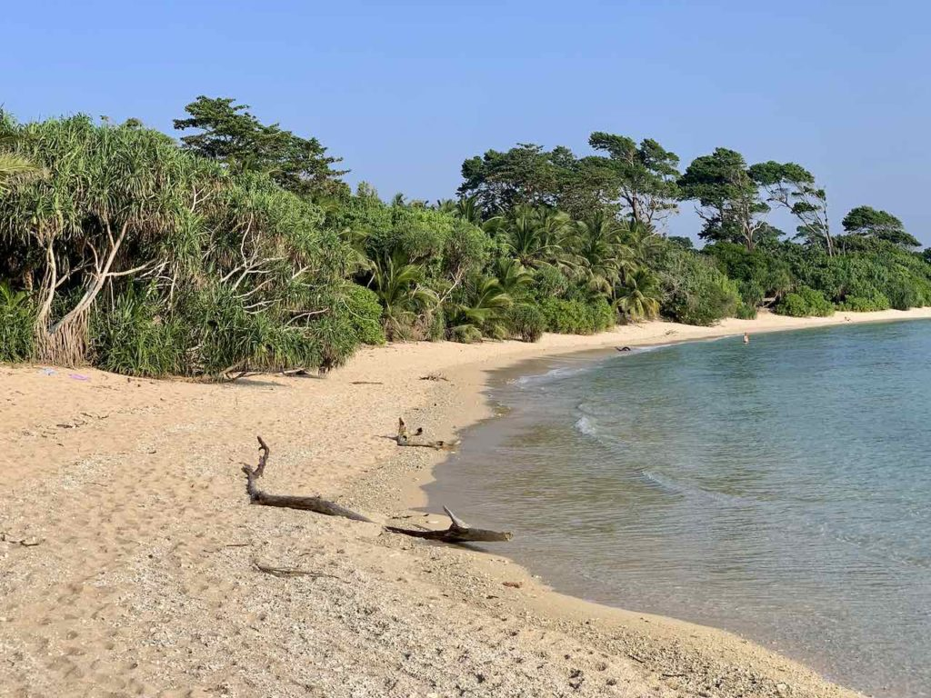 Strand auf Neill Island