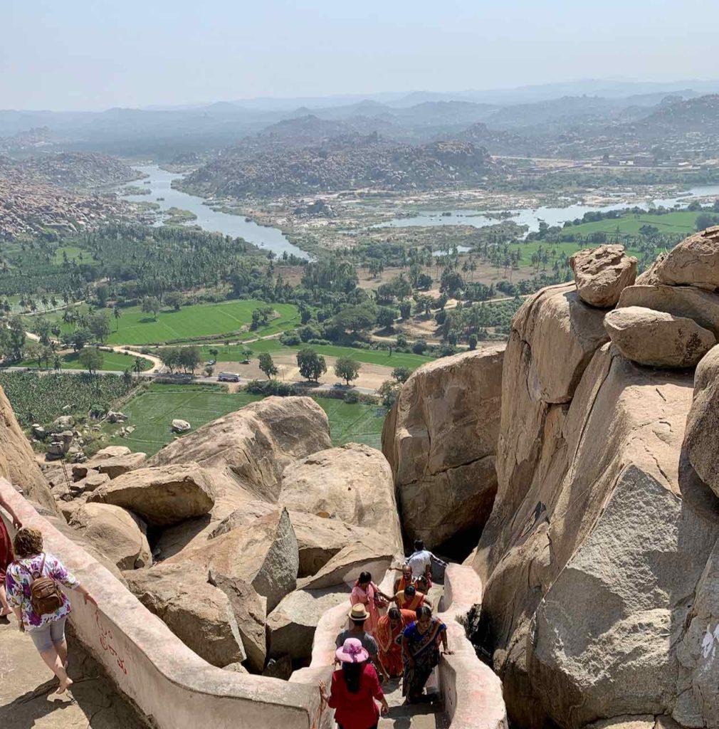 Blick vom Monkey Temple in Hampi