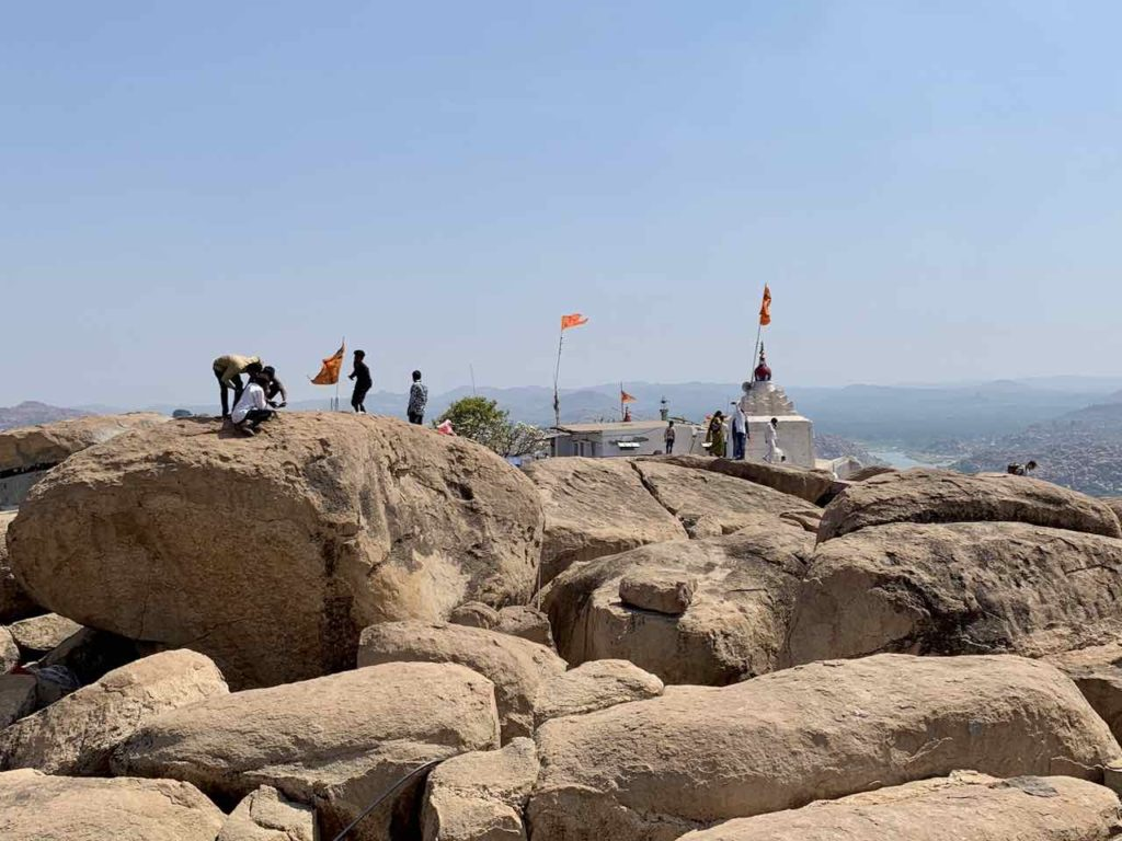 Plateau vom Monkey Tempel in Hampi