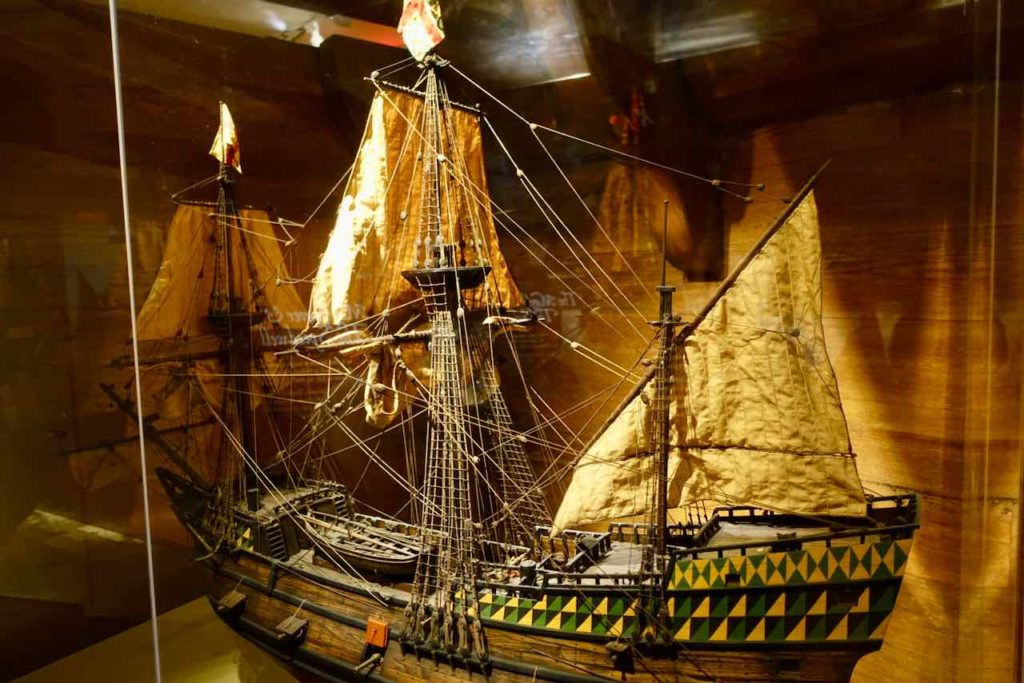 Modell der Mayflower im Pilgrim Hall Museum in Plymouth MA