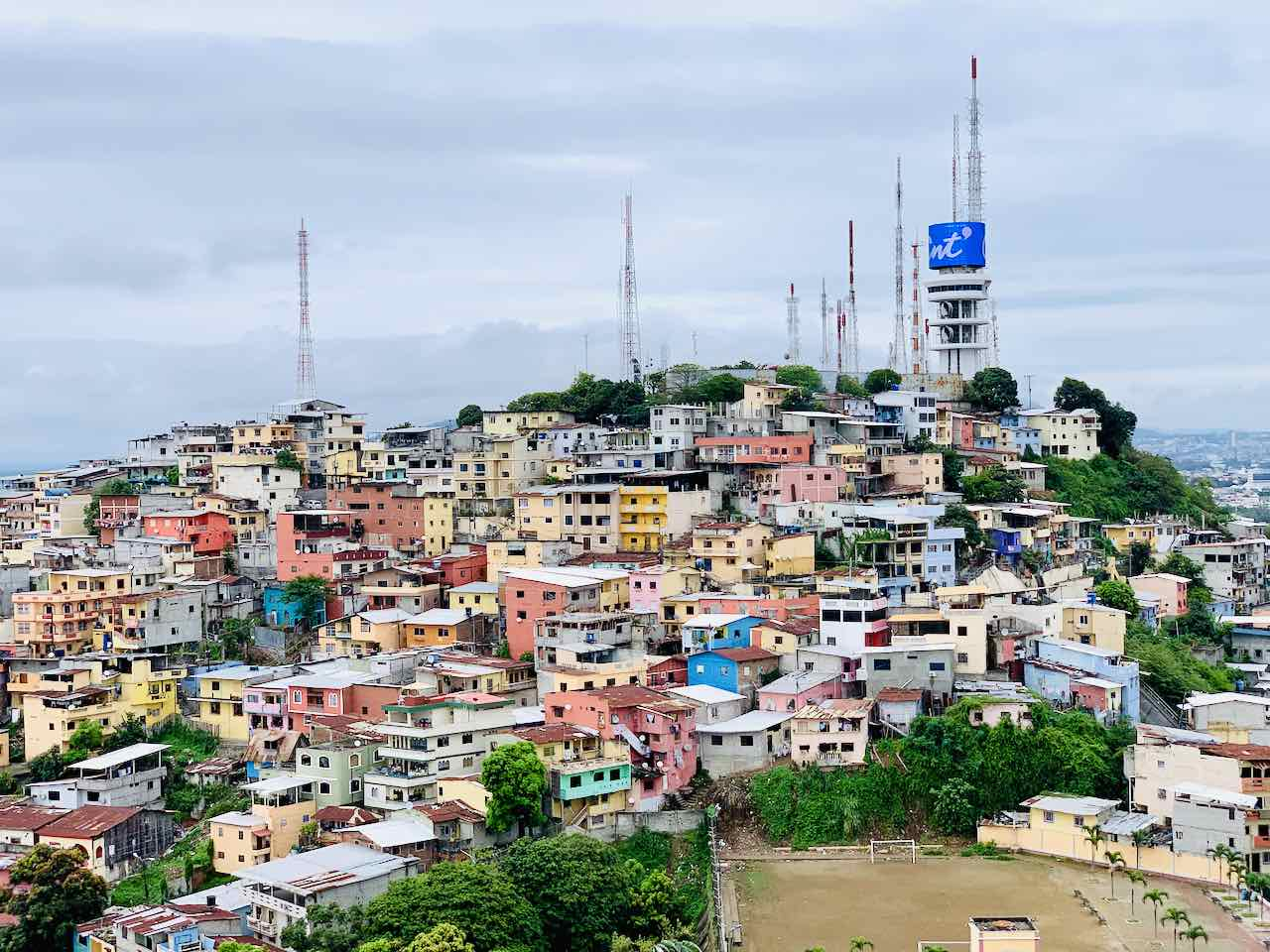 Guayaquil: Blick vom Cerro de Santa Ana