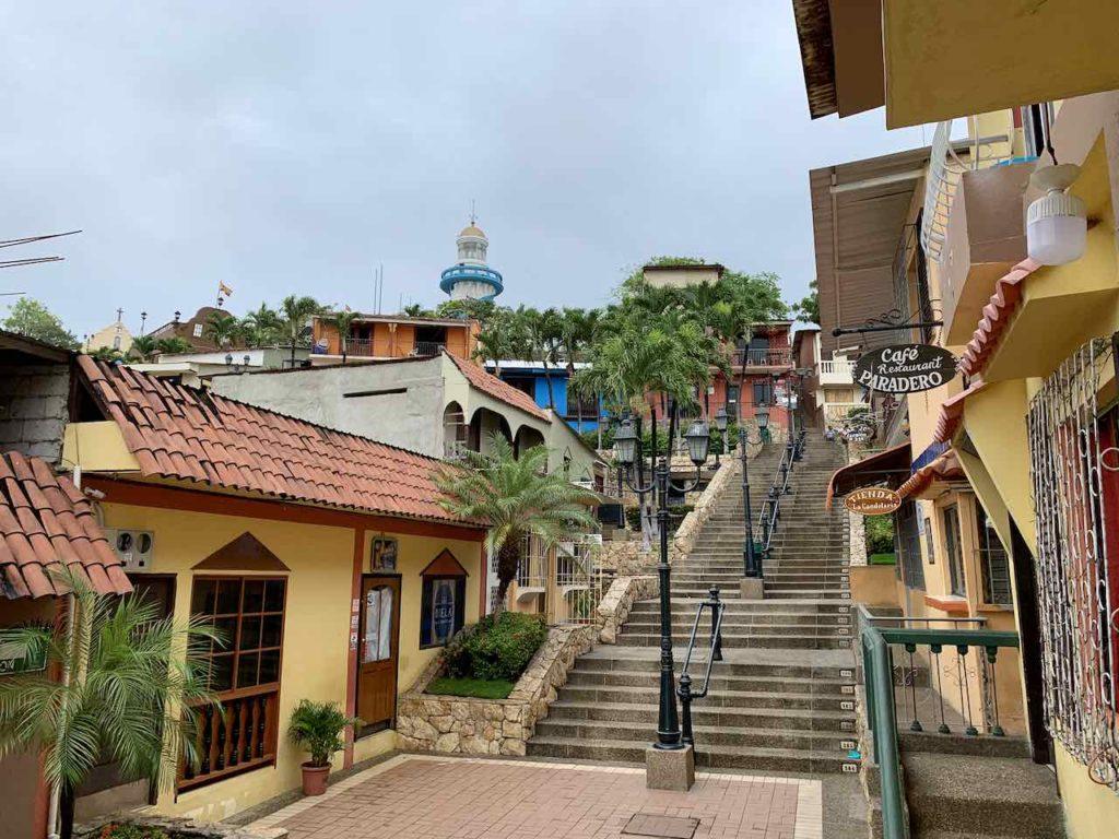 Guayaquil: Treppe Escalinata Diego Noboa y Arteta im Stadtteil Las Peñas