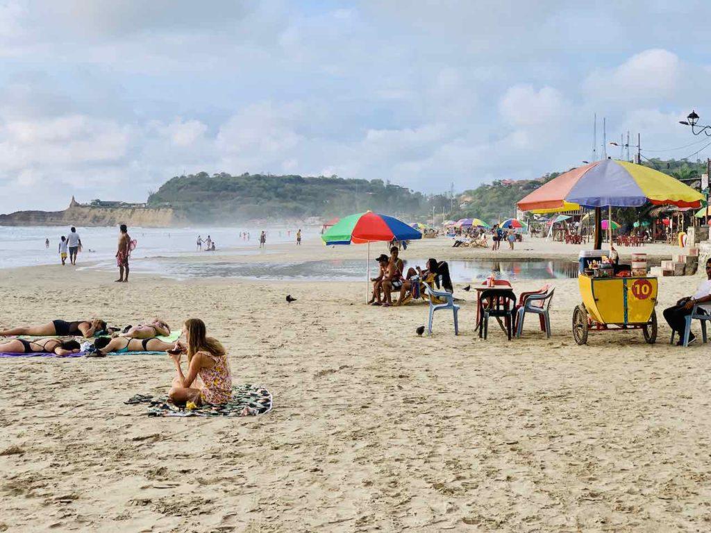 Montañita: Strandleben unter der Woche