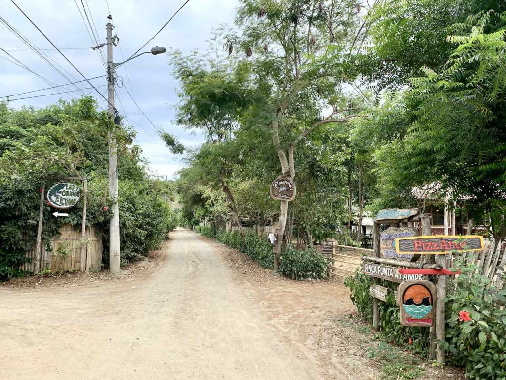 Straße in Ayampe