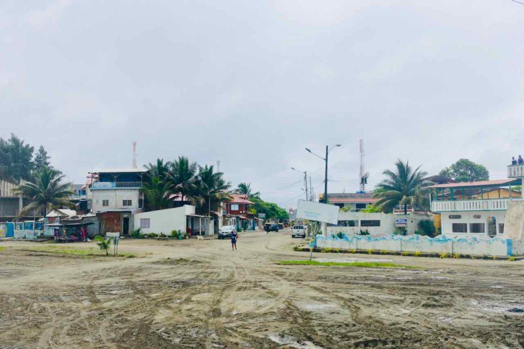Busterminal in Cojimíes, Ecuador