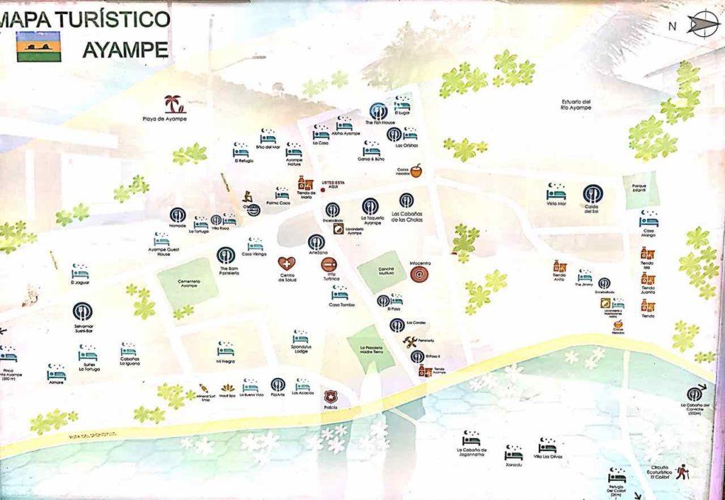 Mapa Turistico von Ayampe