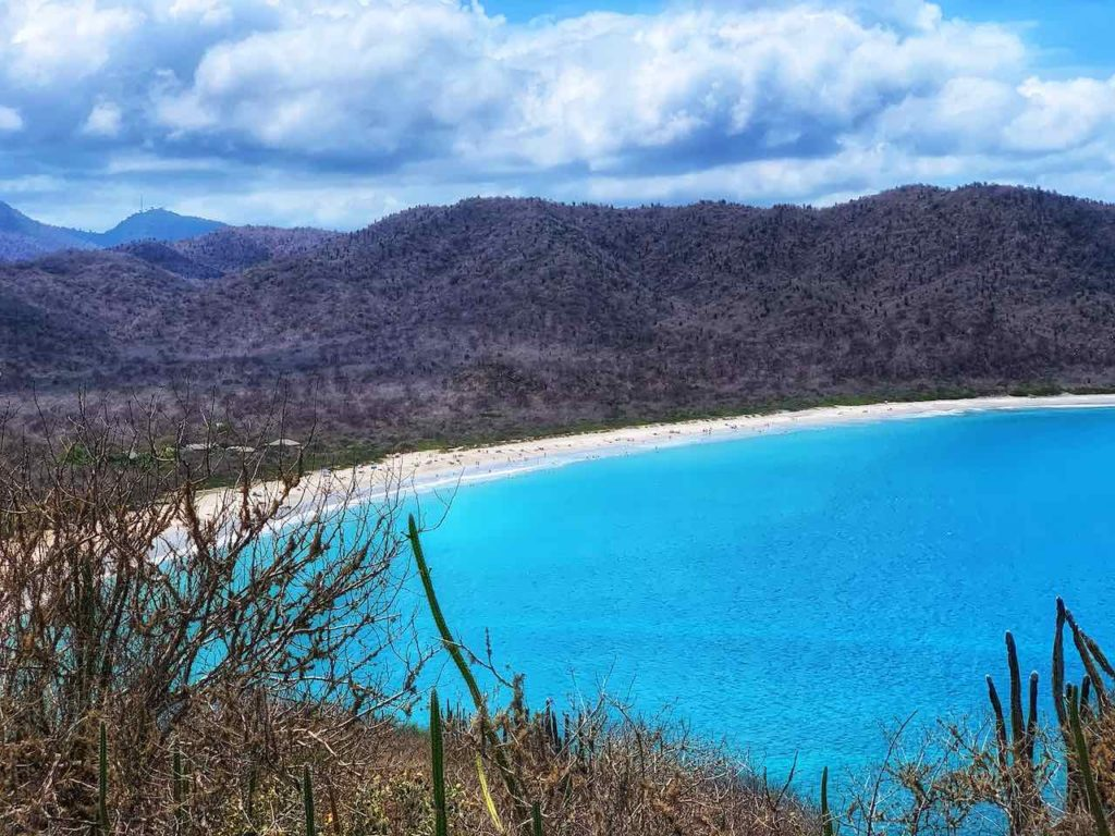 Blick vom Mirador Las Fragatas: Playa Los Frailes im Parque Nacional Machalilla, Ecuador Foto PetersTravel