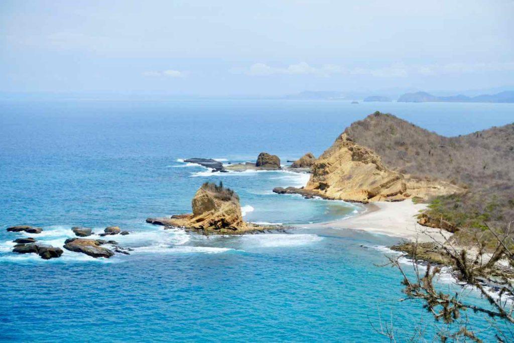 Blick vom Mirador Las Fragatas: Playa Tortuguita