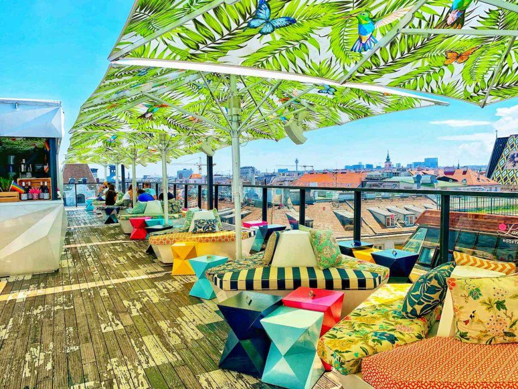 Wien: Rooftopbar des Hotels Lamée