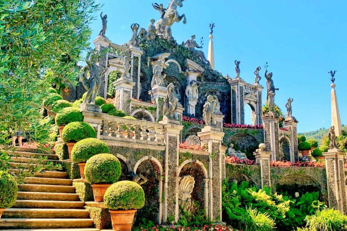 Teatro Massimo im Botanischen Garten der Isola Bella auf dem Lago Maggiore, Italien
