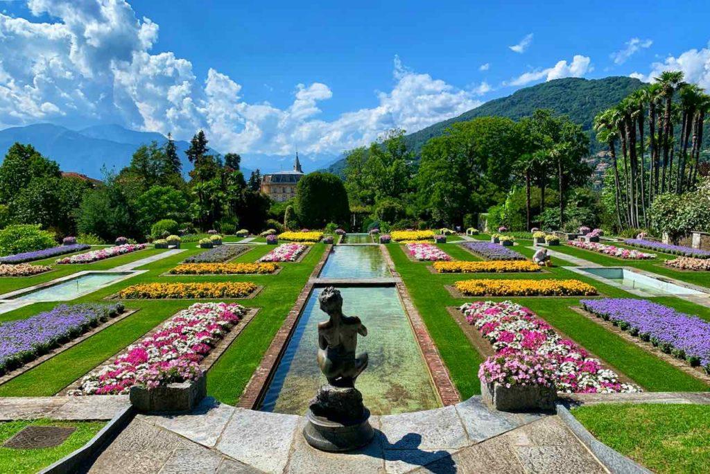 Botanischer Garten der Villa Taranto in Verbania am Lago Maggiore
