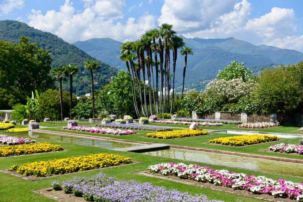 Botanischer Garten der Villa Taranto in Verbania am Lago Maggiore, Italien
