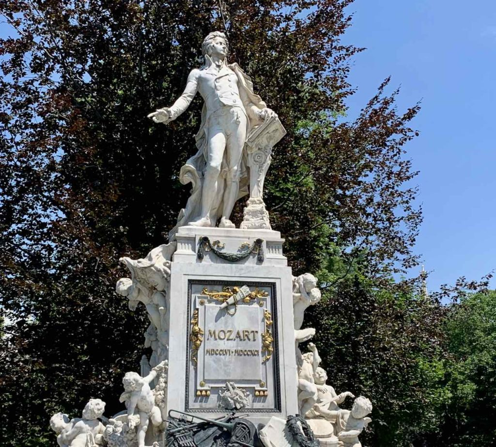Mozartdenkmal im Burggarten Wien