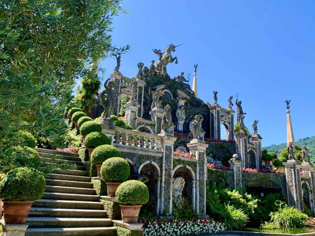 Borromäische Inseln: Teatro Massimo im Botanischen Garten der Isola Bella auf dem Lago Maggiore, Italien