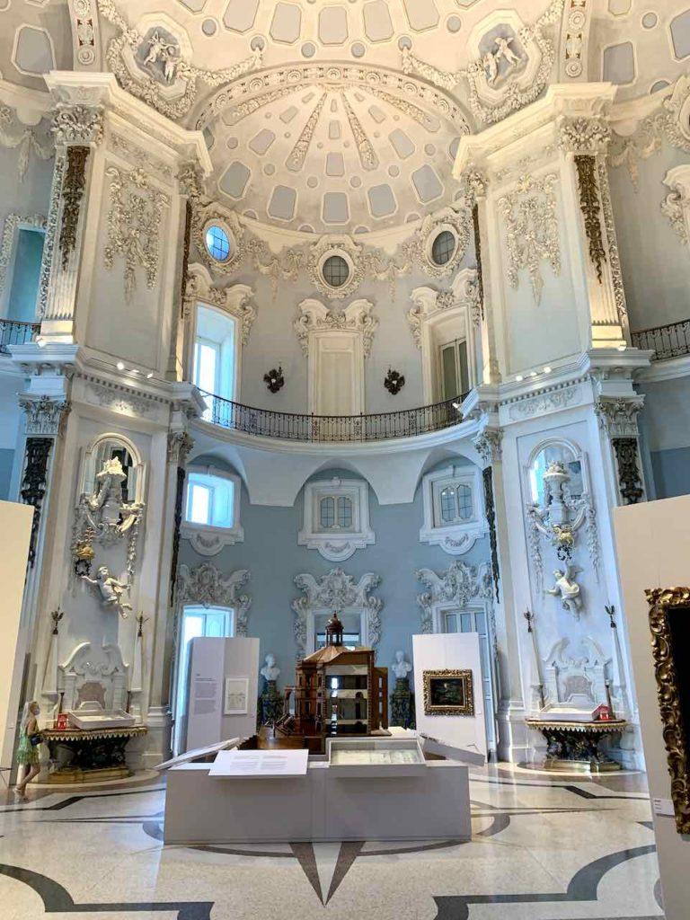 Salone Nuovo im Palazzo Borromeo auf Isola Bella auf dem Lago Maggiore, Italien