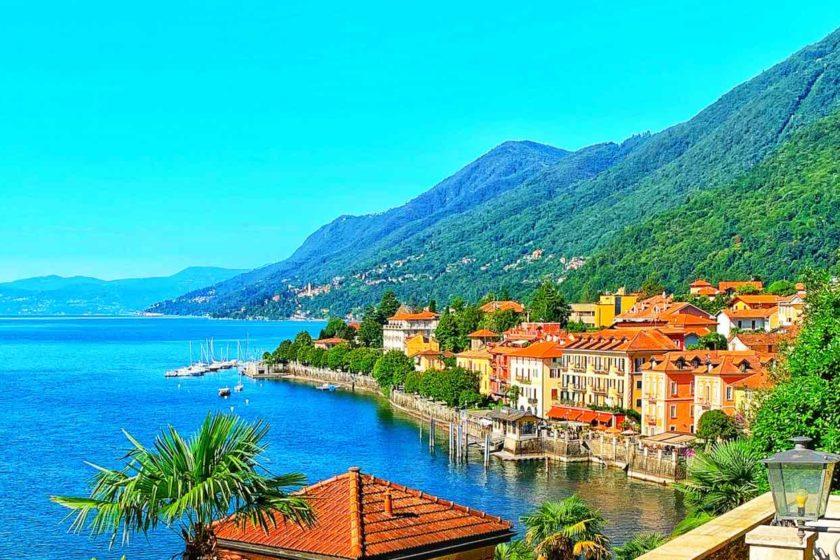 Blick auf Cannero Riviera am Lago Maggiore