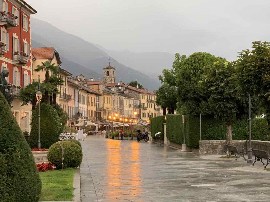 Promenade von Cannobio am Lago Maggiore