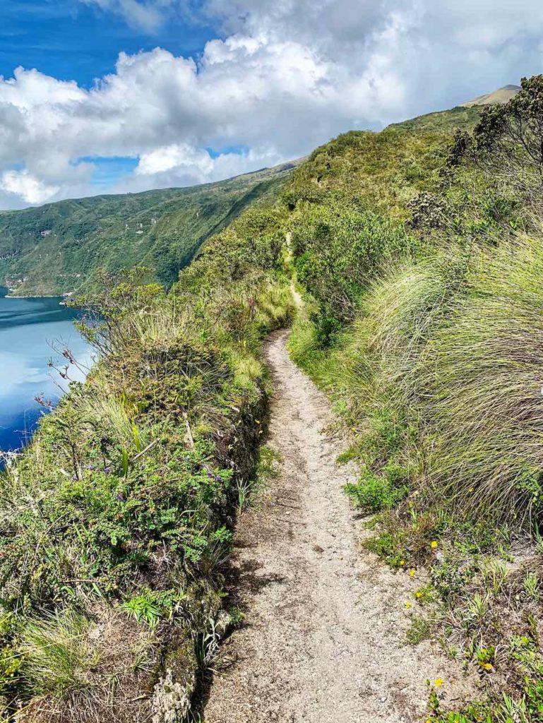 Wanderweg um die Lagune Cuicocha, Ecuador