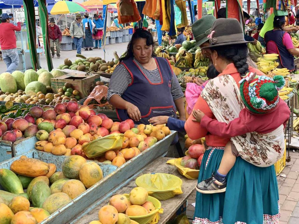 Markt in Alausí, Ecuador