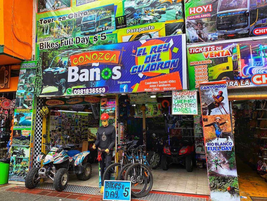 Touranbieter und Quad-Verleih in Baños