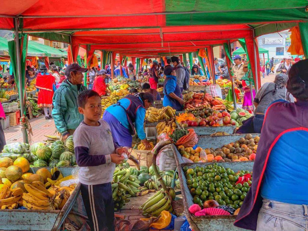 Auf dem Markt in Alausí