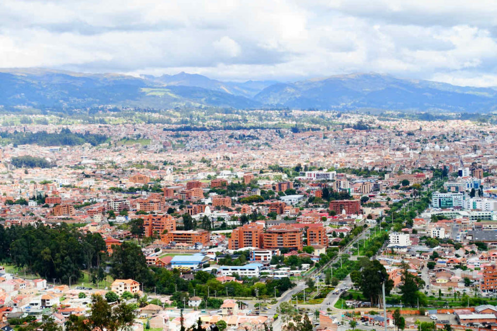 Blick vom Mirador de Turi, Cuenca, Ecuador