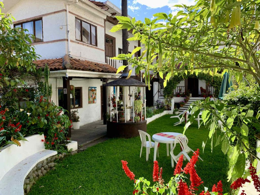 Garten der Unterkunft Casa Macondo in Cuenca, Ecuador