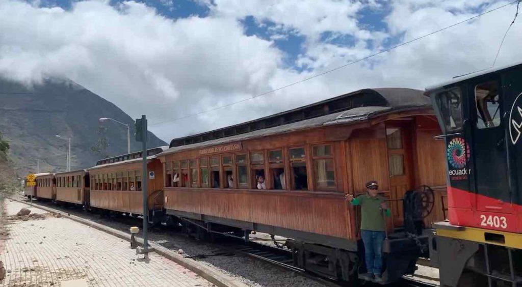 Historischer Zug in Alausí