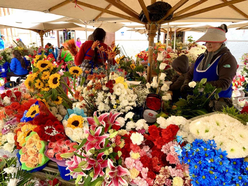 Mercado de las Flores (Blumenmarkt) in Cuenca, Ecuador