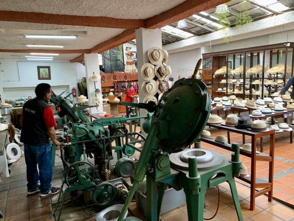 Panama-Hut Museum in Cuenca, Ecuador