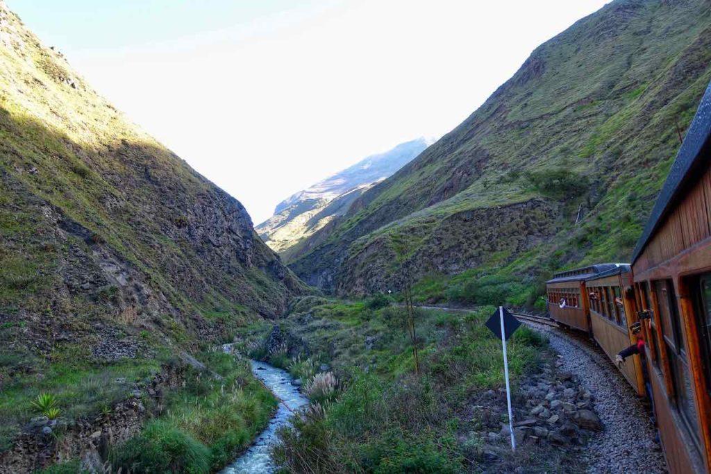 Zugfahrt zur Nariz del Diablo in Alausí
