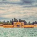 Friedhof Venedig: Außenmauer der Friedhofsinsel San Michele