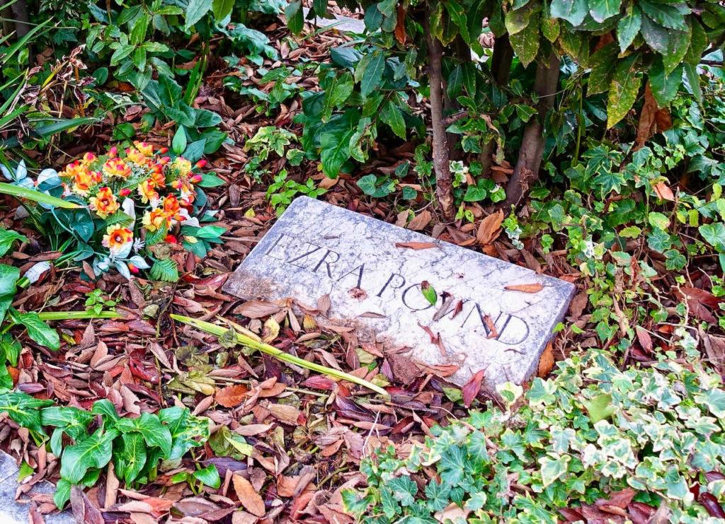 Grab Ezra Pound auf Venedigs Friedhof auf der Friedhofsinsel San Michele
