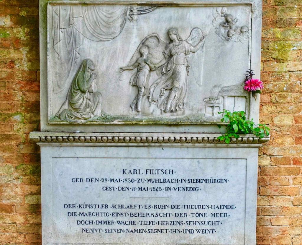 Venedig: Grabstätte des musikalischen Wunderkindes Karl Filtsch, der mit 15 Jahren starb.