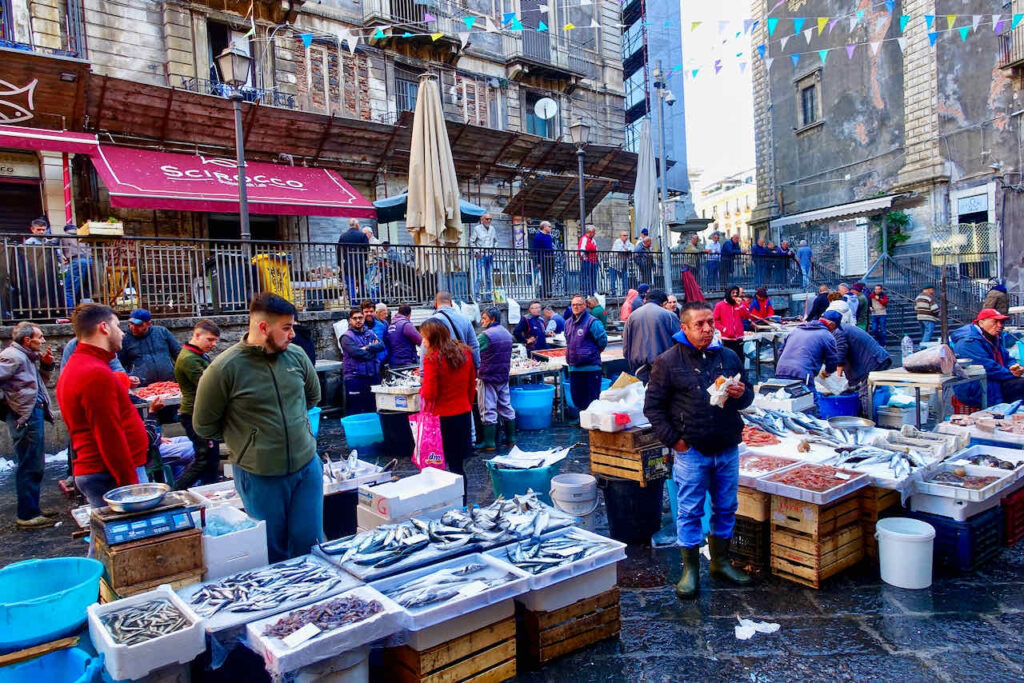 Fischmarkt Pesceria in Catania