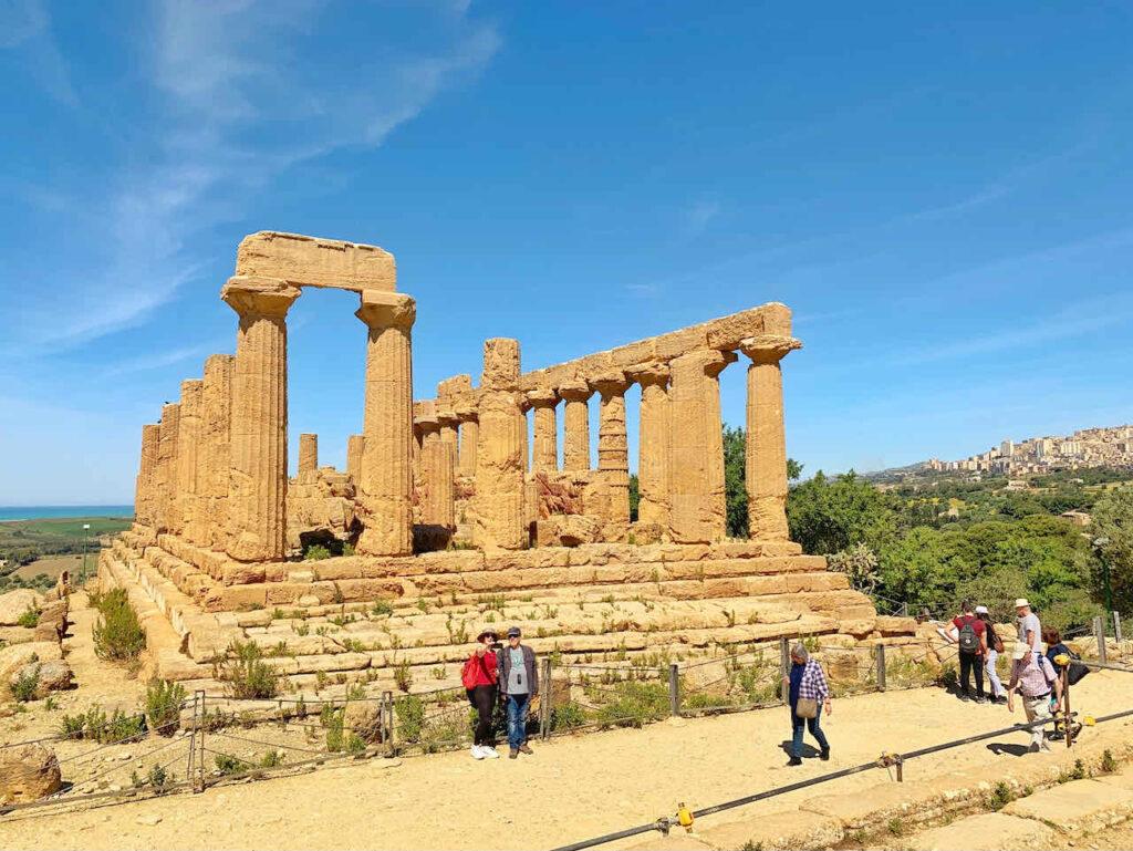 Hera Tempel im Tal der Tempel, Sizilien