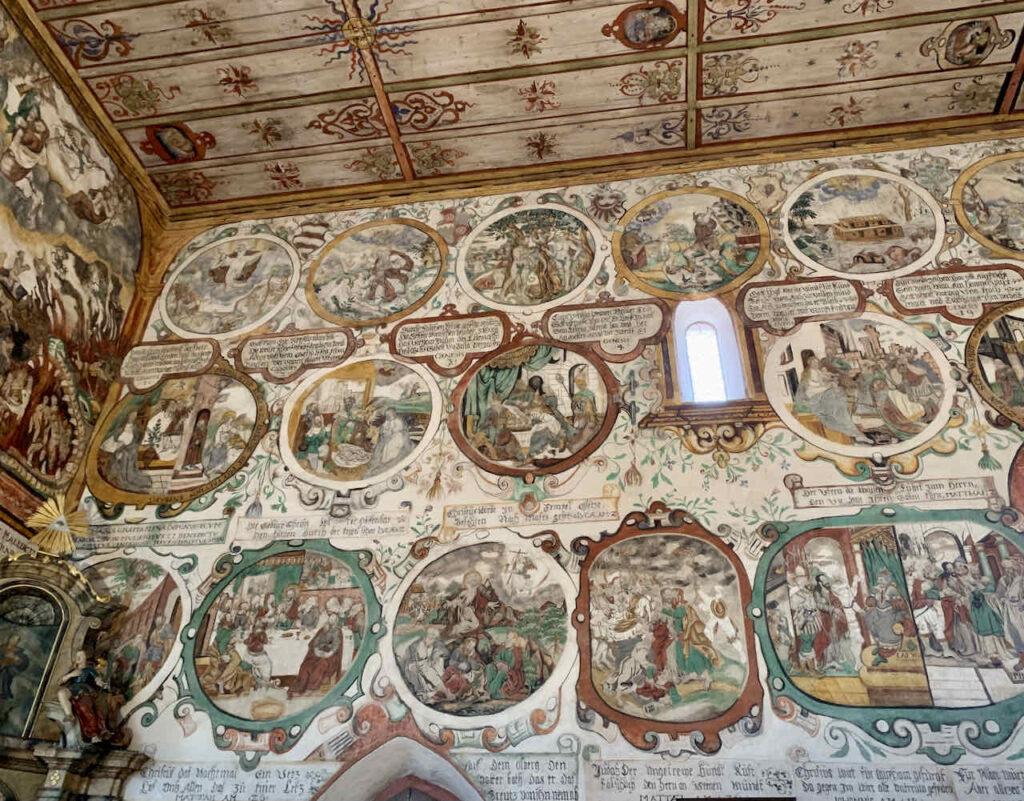 Wandbilder der Martinskapelle in Bürgstadt