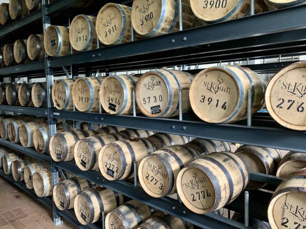 Private Casks in der St. Kilian Whisky Destillery in Rüdenau