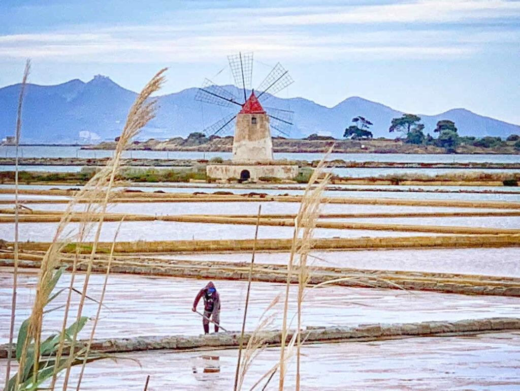 Sizilien: Salinen in der Riserva Naturale Saline di Trapani e Paceco