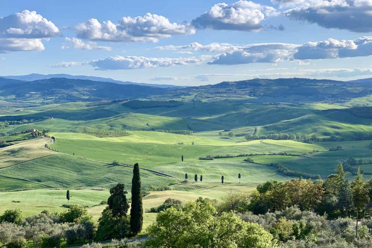 Blick von Pienza im Val d'Orcia, Toskana